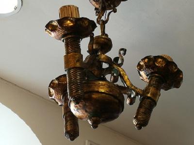 Lampada Fiorentina : Lampadario oro con luci fiori rose avorio arte fiorentina art l